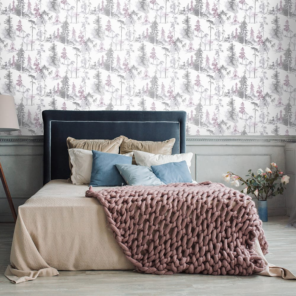 Mystical Forest Lilac Wallpaper, , wallpaperIT