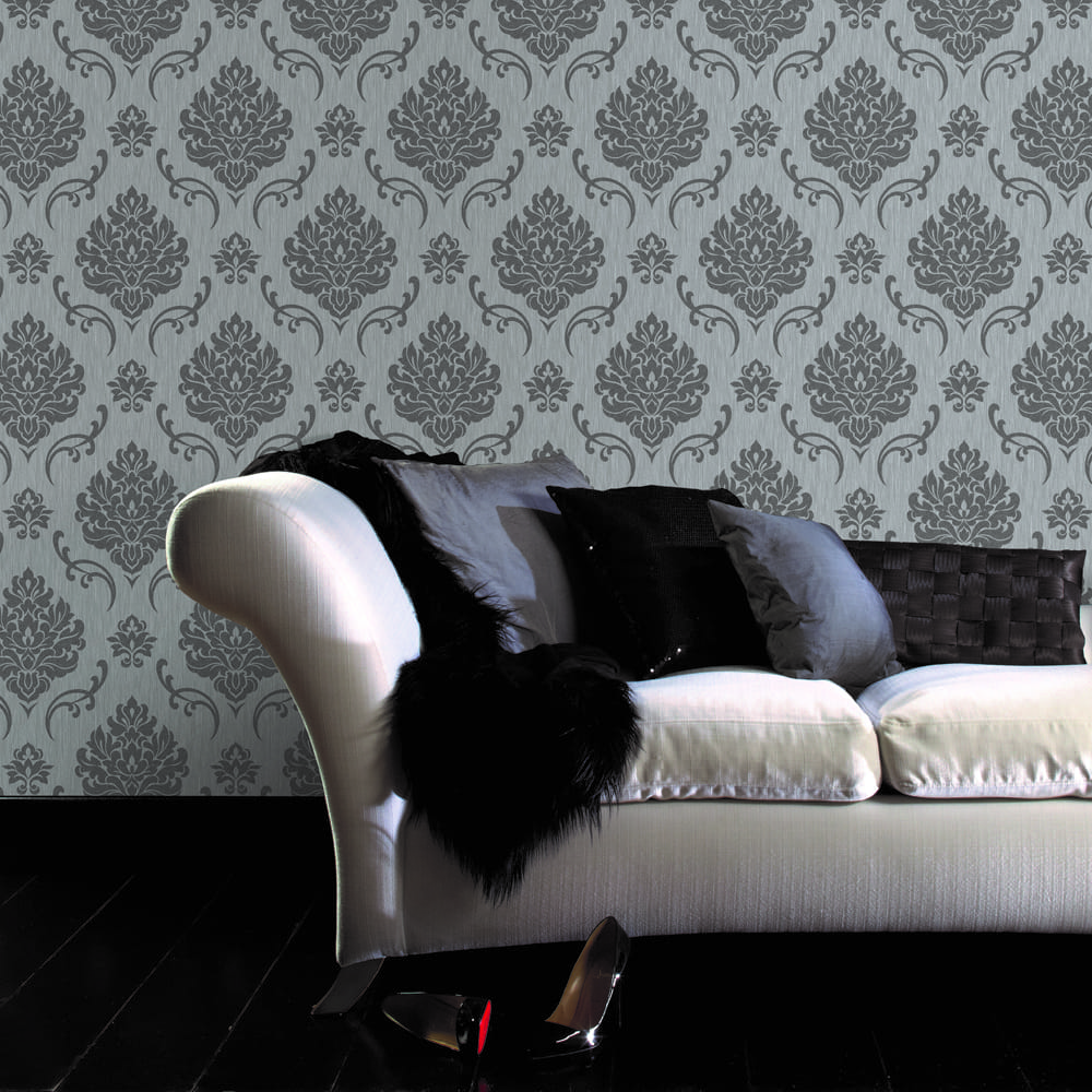 Althea Glitter Grey & Silver Wallpaper, , wallpaperIT