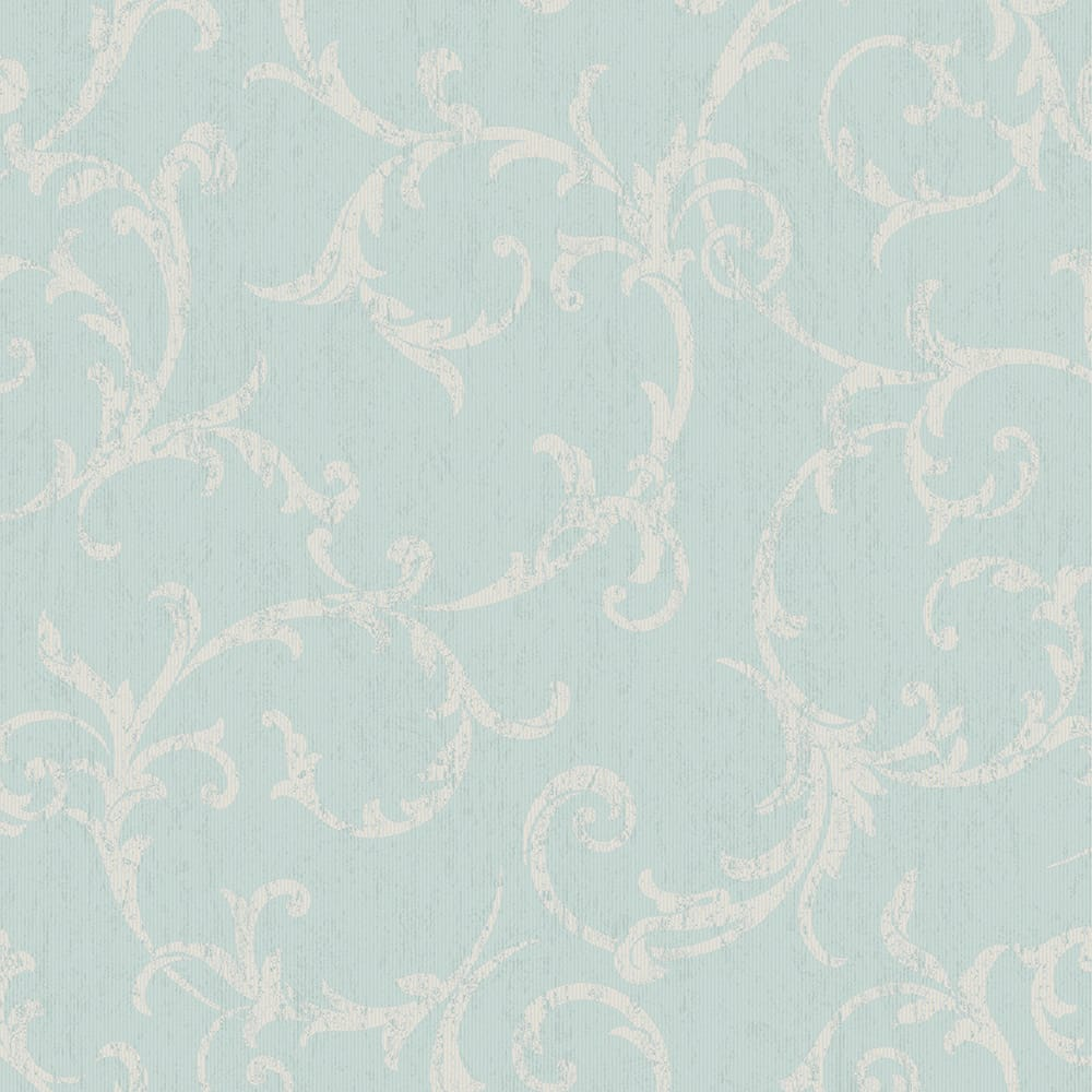 Empress Scroll Duck Egg Wallpaper, , wallpaperIT