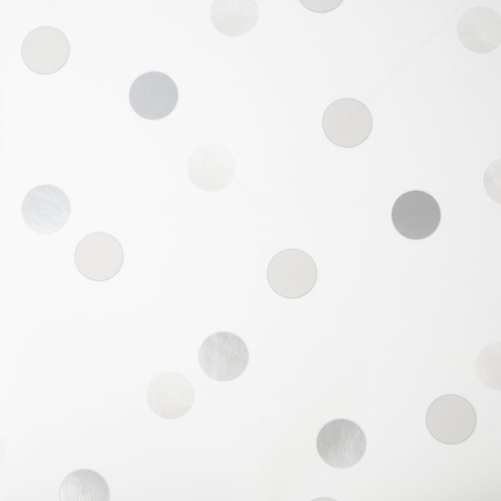 Dotty Polka Silver Wallpaper, , wallpaperIT