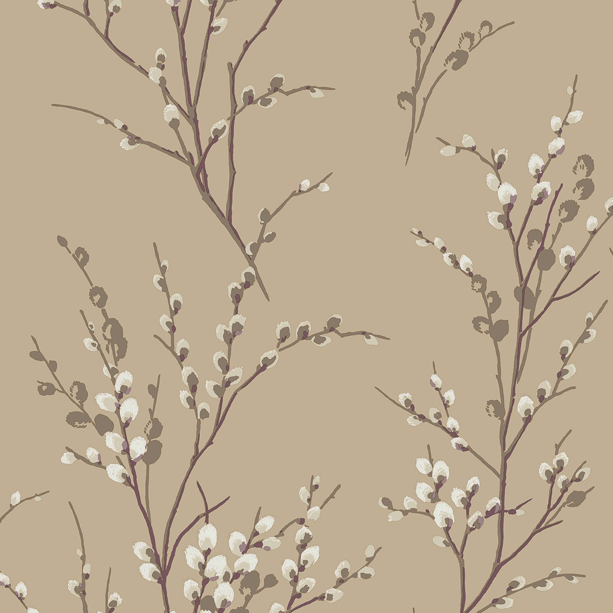 Pussy Willow Natural Wallpaper, , wallpaperIT