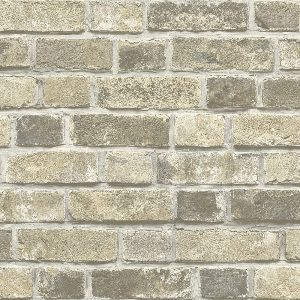 Transform Brick Taupe Wallpaper, , wallpaperIT