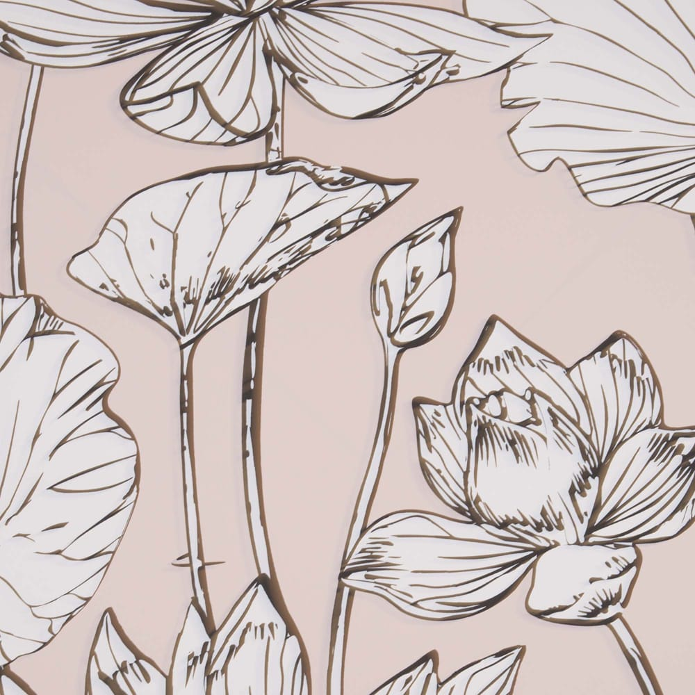 Transform Pink Illustrative Floral Wallpaper, , wallpaperIT