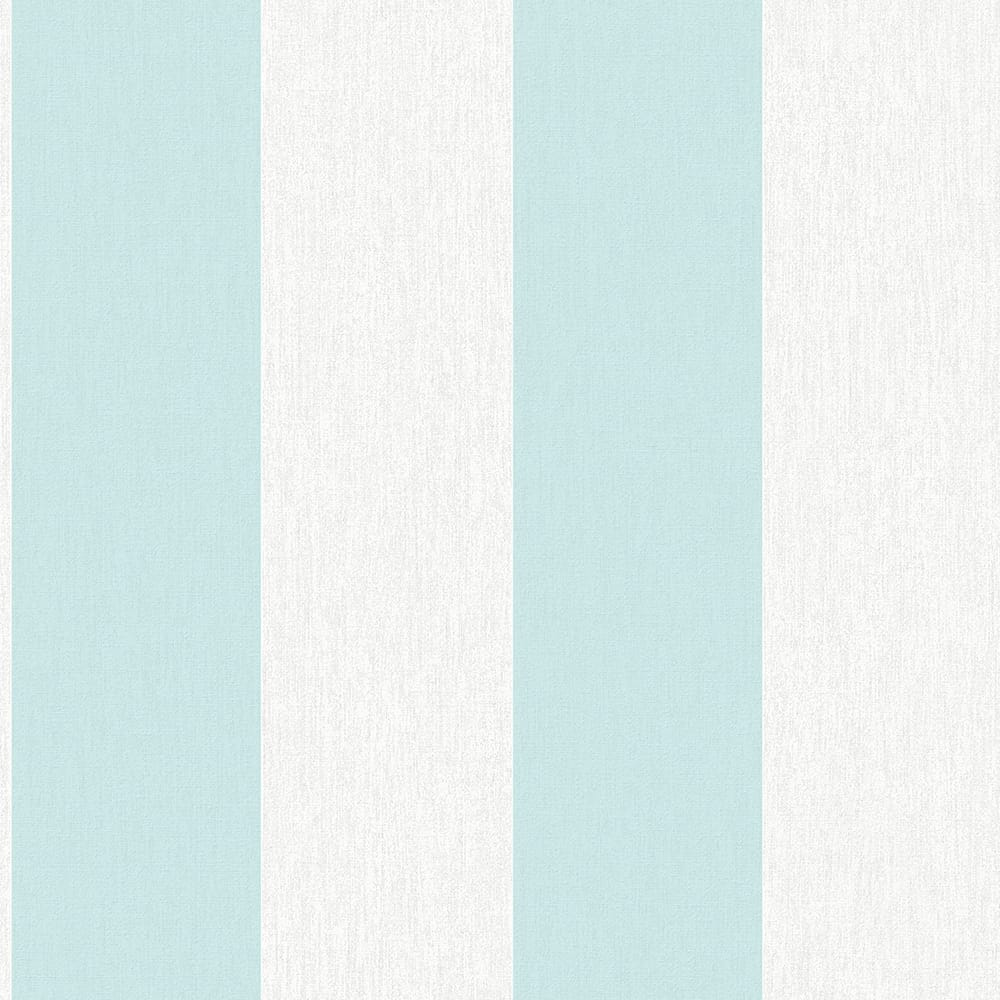 Calico Stripe Duck Egg Wallpaper, , wallpaperIT