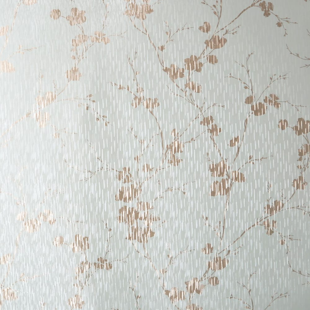 Theia Blossom Duck Egg Wallpaper, , wallpaperIT