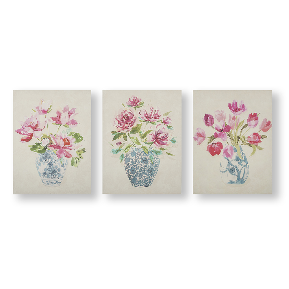 Floral Ginger Jars Wall Art, , wallpaperIT
