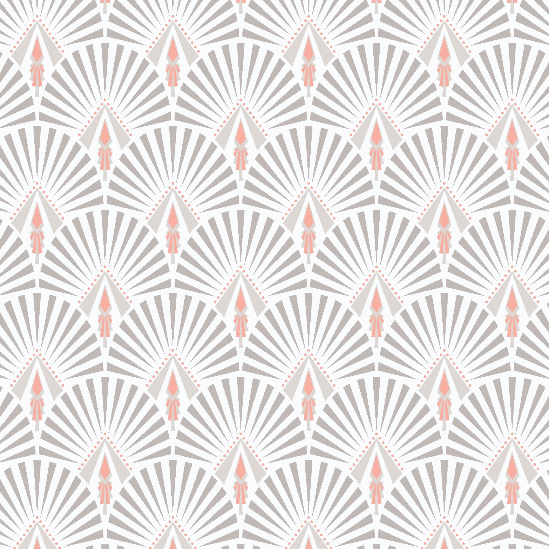 Selena Pink Art Deco Wallpaper, , wallpaperIT