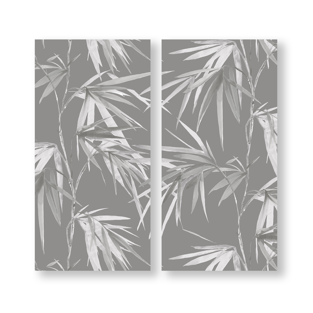 Bamboo Blooms Printed Canvas, , wallpaperIT