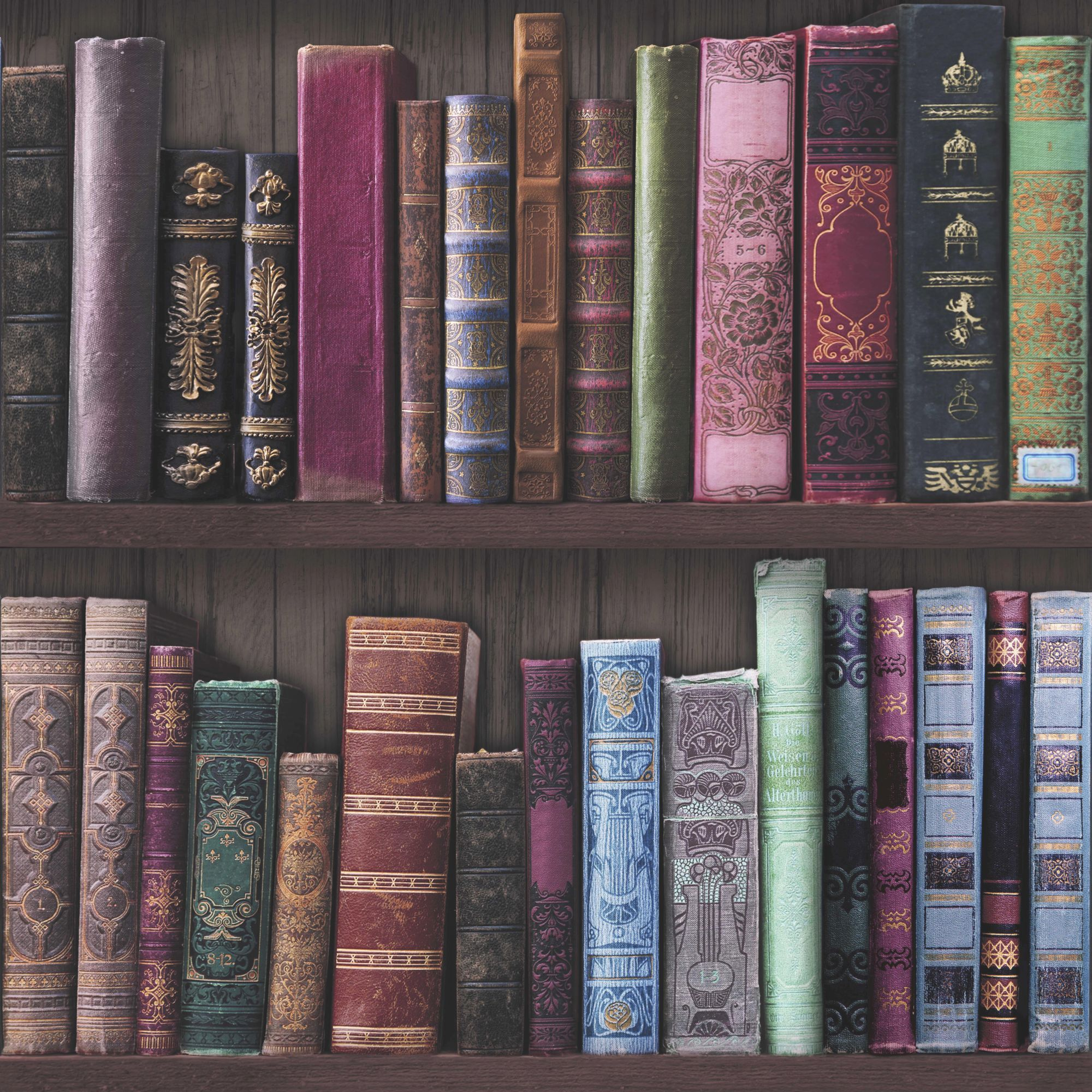 Book Shelf Wallpaper, , wallpaperIT