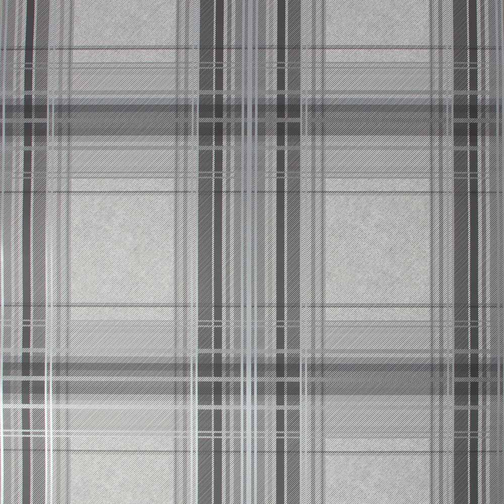 Iona Check Charcoal Wallpaper, , wallpaperIT