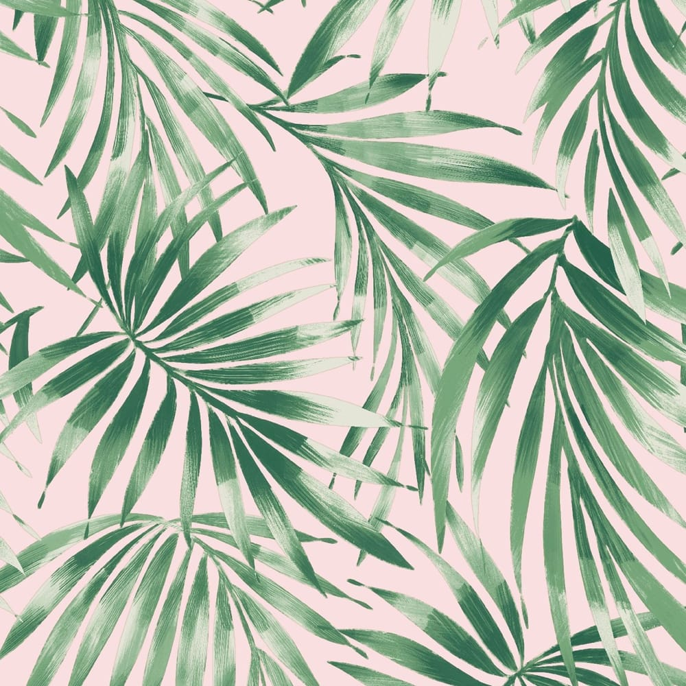 Elegant Leaves Pink Wallpaper, , wallpaperIT