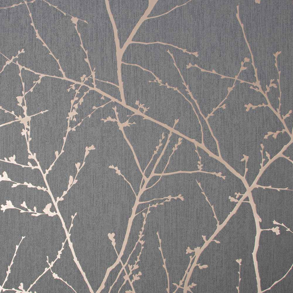 Innocence Charcoal & Copper Wallpaper, , wallpaperIT