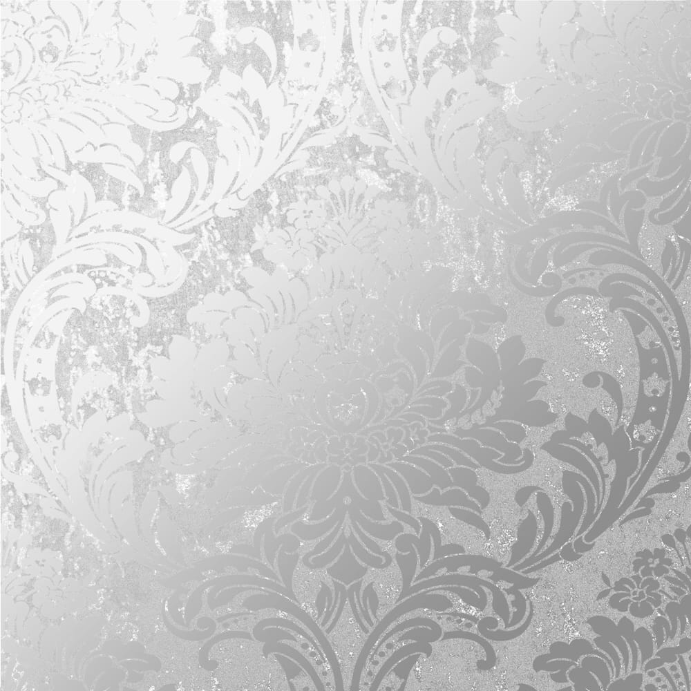 Milan Damask Silver Wallpaper, , wallpaperIT
