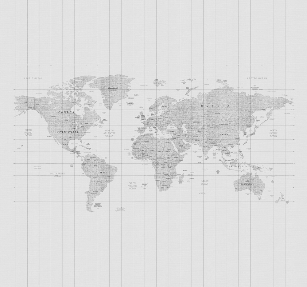 Map of the World Wall Mural, , wallpaperIT