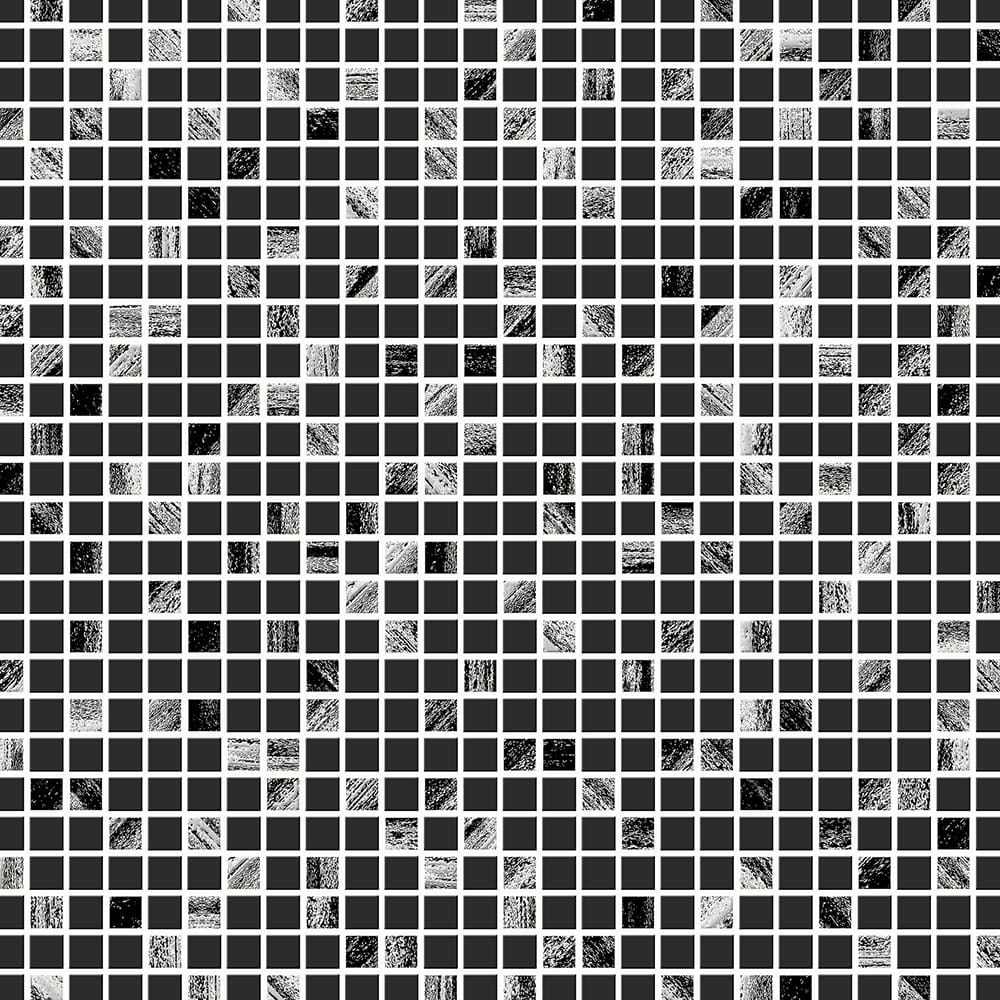 Aroura Tile Black and Silver Wallpaper, , wallpaperIT