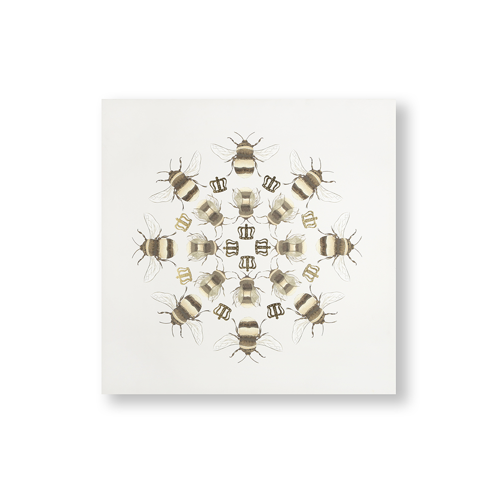 Beautiful Bees Printed Canvas Wall Art, , wallpaperIT
