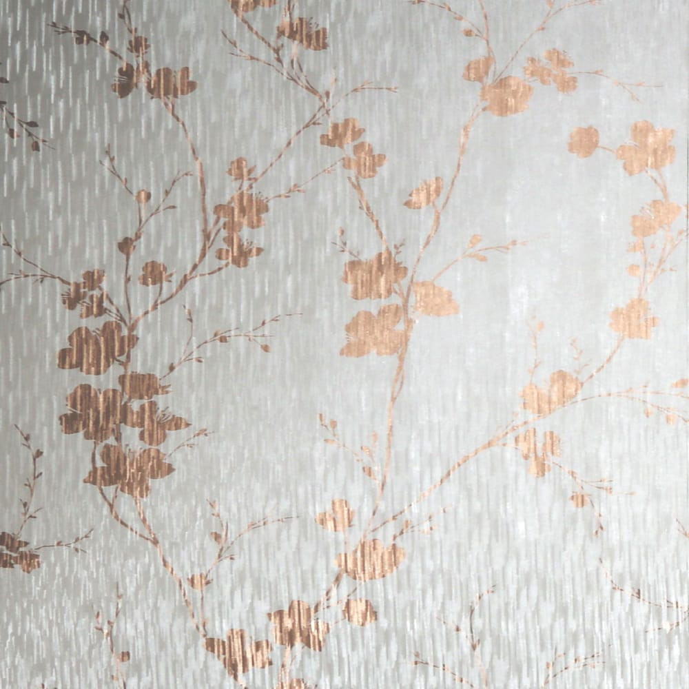Theia Blossom Mist & Rose Gold Wallpaper, , wallpaperIT