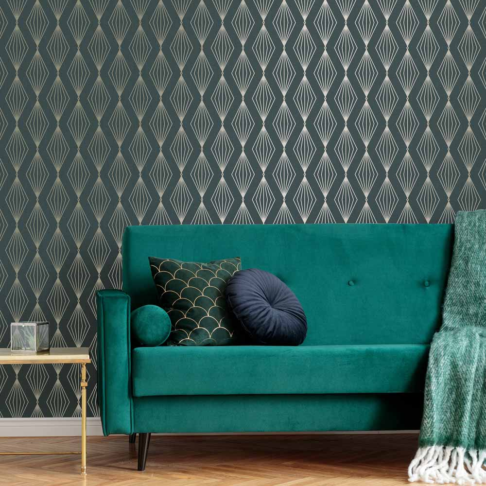 Marquise Geo Emerald Wallpaper, , wallpaperIT