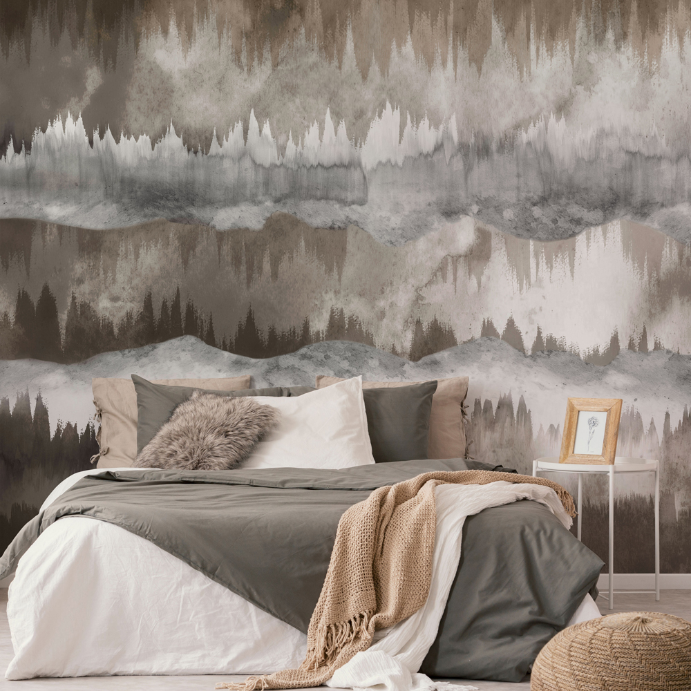 The Horizon Taupe Wall Mural, , wallpaperIT