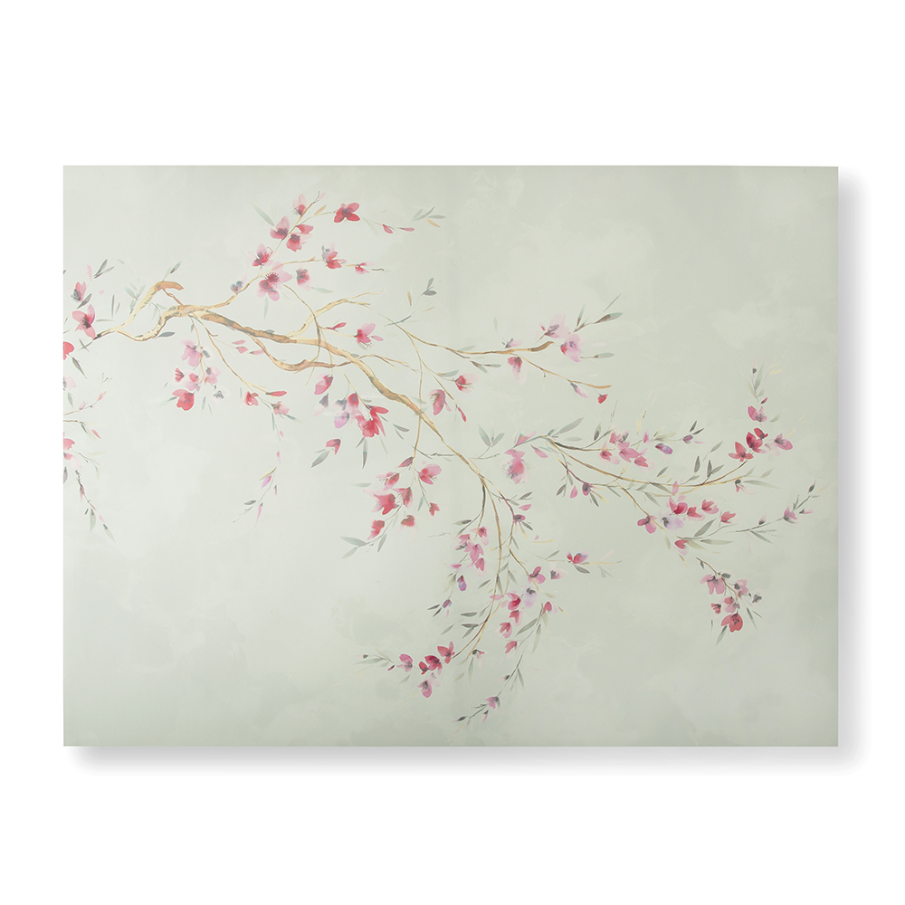 Watercolour Orchid Blossoms Wall Art, , wallpaperIT
