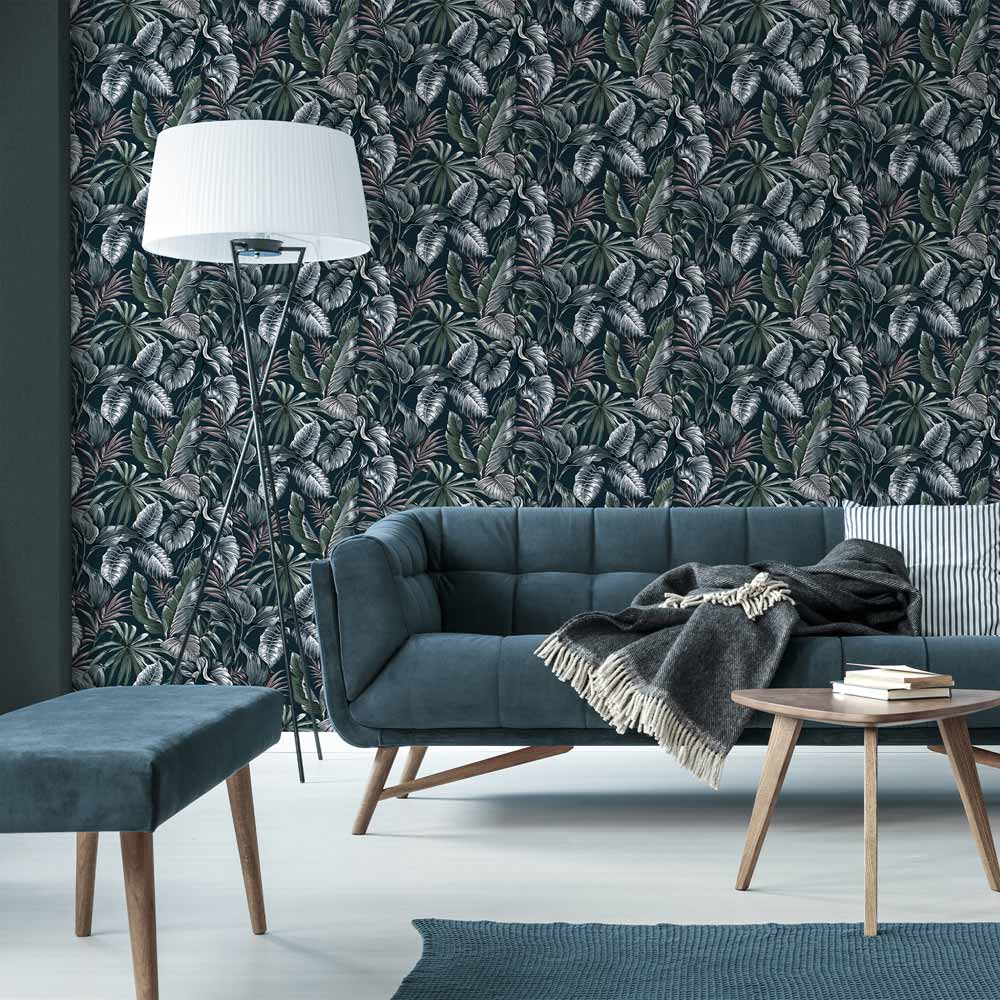 Leaves Exotique Green Wallpaper, , wallpaperIT