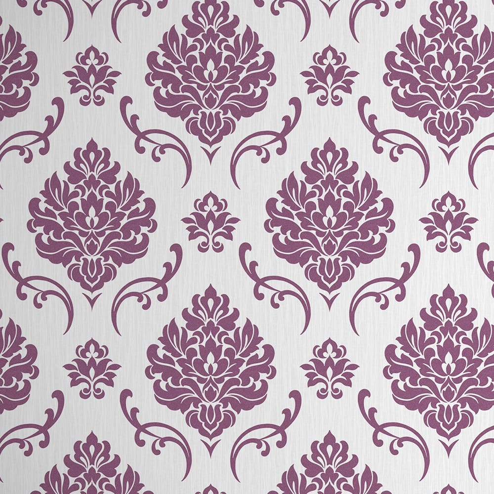 Althea Glitter Purple & Silver Wallpaper, , wallpaperIT