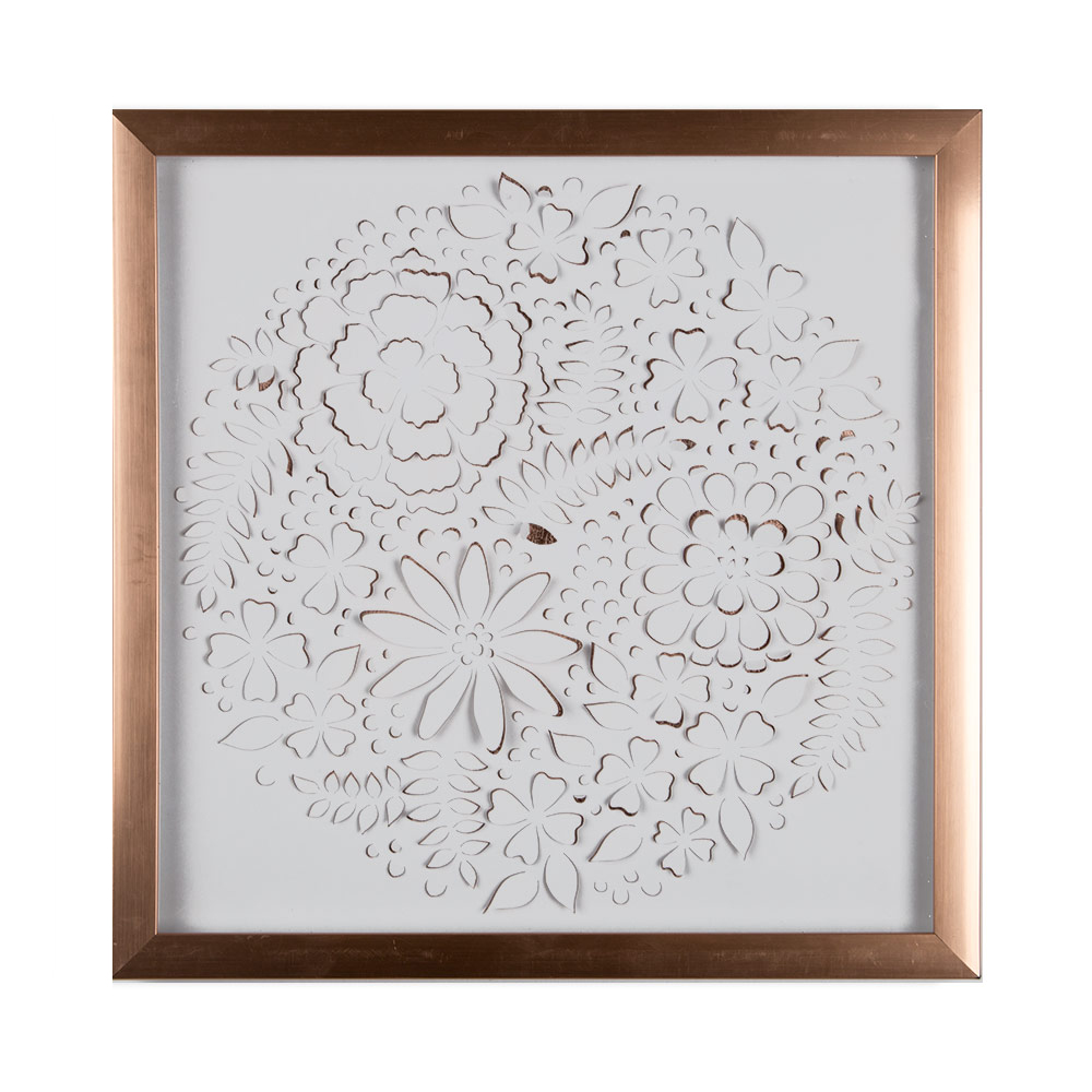 Rose Gold Petals Framed Wall Art, , wallpaperIT