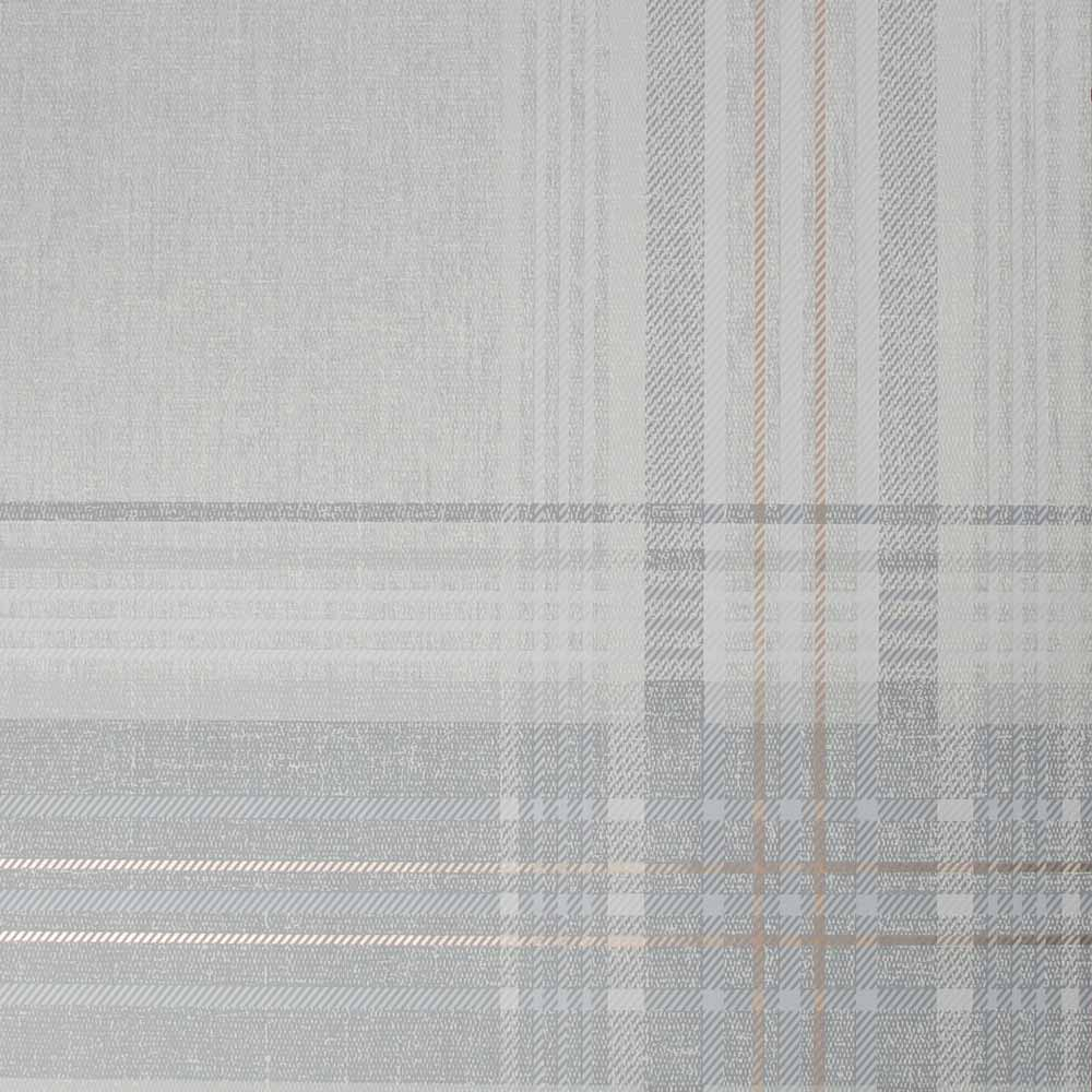 Rhea Plaid Grey & Rose Gold Wallpaper, , wallpaperIT