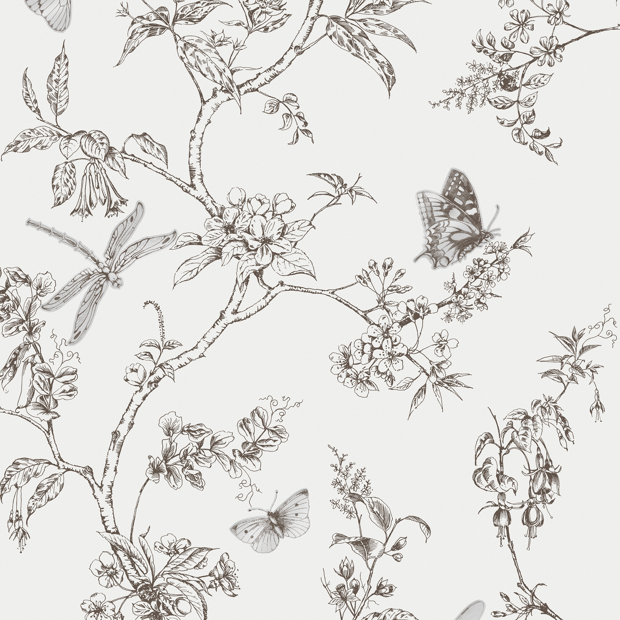 Nature Trail White Mica Wallpaper, , wallpaperIT