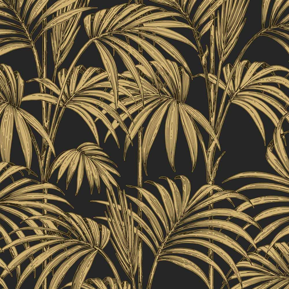 Honolulu Black and Gold Wallpaper, , wallpaperIT